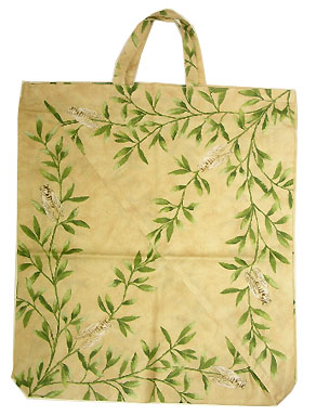Provence fabric Green bag - Eco bag (cicada. beige)