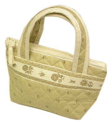 Provence pattern Mini tote bags (Calissons. beige)