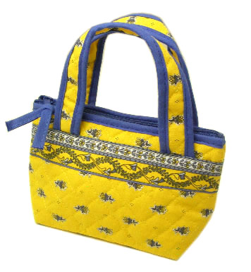 Provence pattern Mini tote bags (Avignon. yellow)