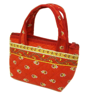 Provence pattern Mini tote bags (Avignon. red)