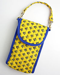 Provence style cellphone case (Lourmarin. yellow x blue)