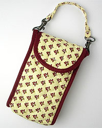 Provence style cellphone case (Lourmarin. beige x bordeaux)