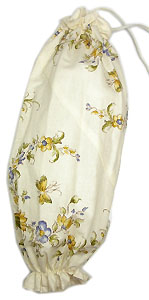 Plastic bags stocker bag (Flowers. white)