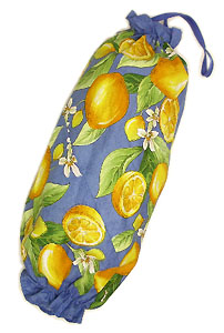Plastic bags stocker bag (lemons. blue)