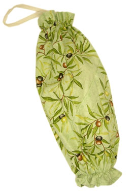 Plastic bags stocker bag (olives. mint green)