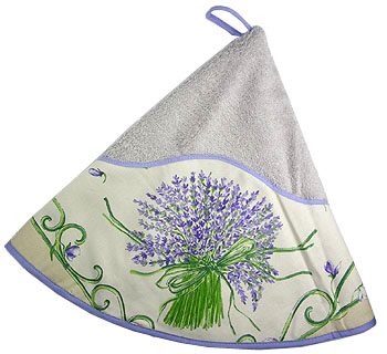 Hand - face round towel (Lavender. purple)