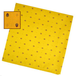 Provencal tea towel - napkin (calisson. yellow x red)
