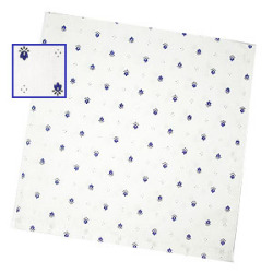 Provencal tea towel - napkin (calisson. white x blue)