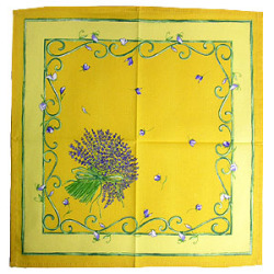 Provence print fabric tea towel (lavender. yellow)