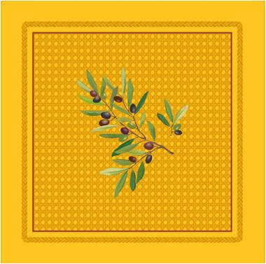 Provence print fabric tea towel (Nyons. yellow)