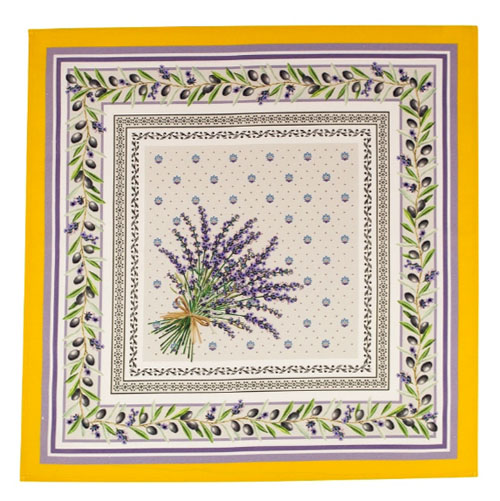 Provence print fabric tea towel (Lauris. yellow)