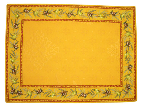 Provence Jacquard tea mat (olives 2005. yellow)