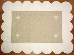 Provence lunch mat, (Maya. natural x ivory)