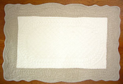 Provence lunch mat, (Marius. ivory × natural)