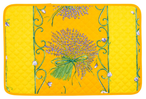 Provence quilted Placemat, non coated (lavender. yellow)