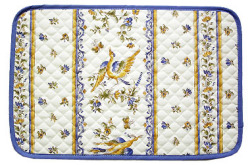 Provence quilted Placemat, non coated (Moustiers)