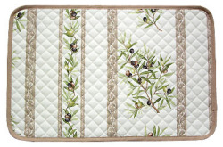 Provence lunch mat non coated (Olives 2005. white x beige)
