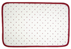 Provence lunch mat non coated (Calissons. white x bordeaux)