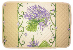 Provence quilted Placemat, non coated (lavender. beige x purple)