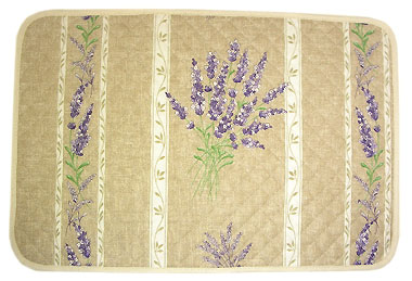 Provence quilted Placemat, coated (lavender 2007. natural))