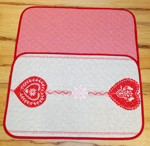 Set of 5 provence quilted reversible placemat, non coated (Chris