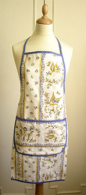 French Apron, Provence fabric (Moustiers)