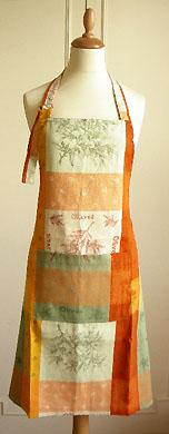 Apron double woven Jacquard Teflon (Cadolive. green orange)