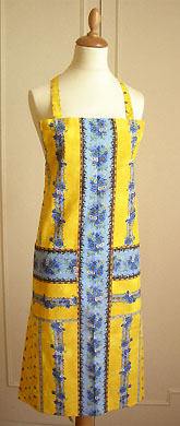 French Apron, Provence fabric (Marat Avignon / tradition. yellow