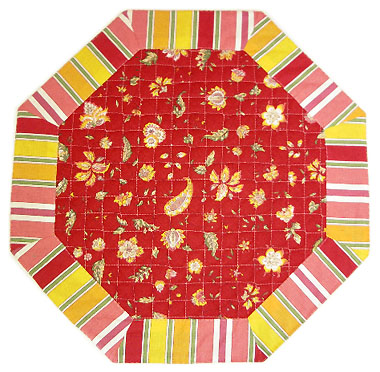 Octogonal table mat (Vence. red)