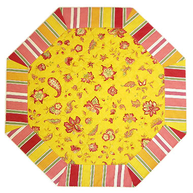 Octogonal table mat (Vence. yellow)