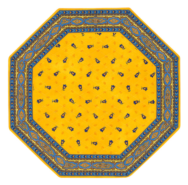 Placemats Octogonal Bordered (Calissons Olivettes.Yellow/red)