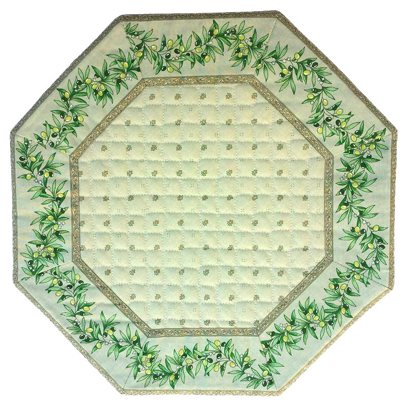 Placemats Octogonal Bordered (Calissons Olivettes.mint geen)