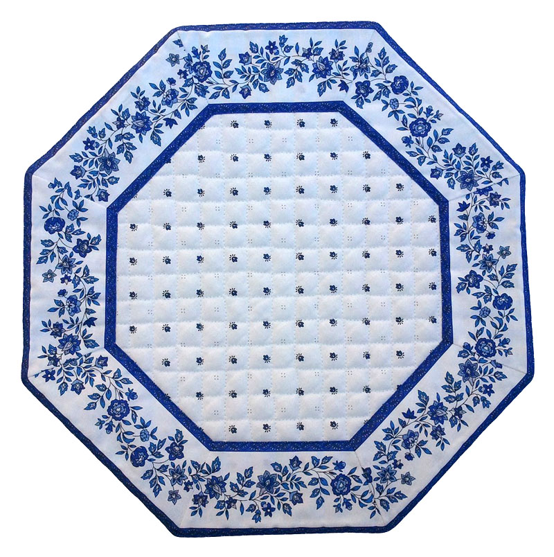 Placemats Octogonal Bordered (Calissons Fleurette.white/blue)