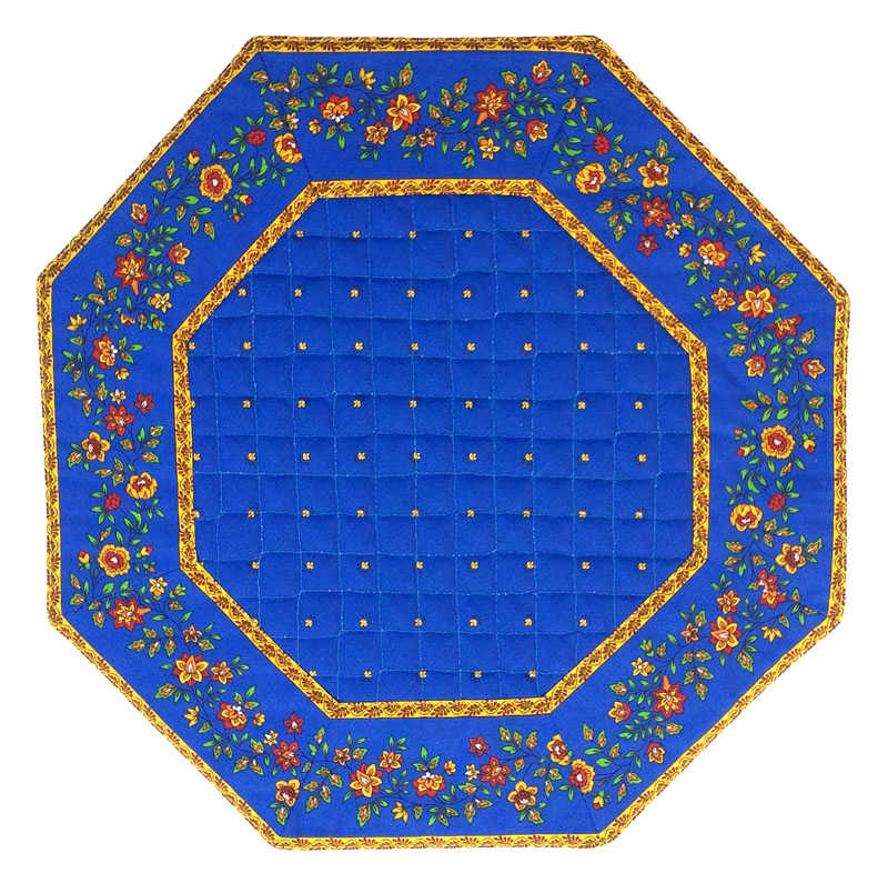 Placemats Octogonal Bordered (Calissons Fleurette. Blue)