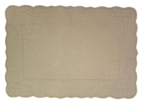 "Provencal Boutis Floor mat ""PALAZZO"" (antique grey)"