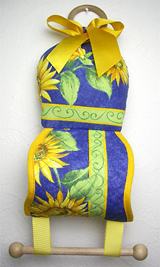 Toilet paper holder with pot pourri (sunflowers. blue)
