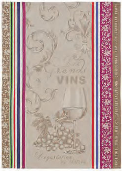Set of 3 Jacquard dish cloths (Vignoble)