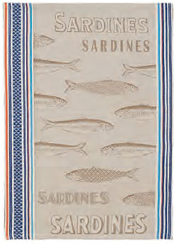 Set of 3 Jacquard dish cloths (Sardine)