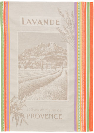 Set of 3 Jacquard dish cloths (Lavande)