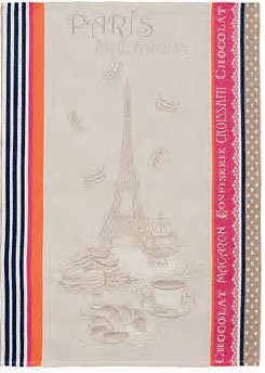 Set of 3 Jacquard dish cloths (Macarons)