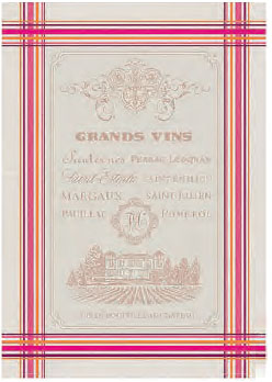 Set of 3 Jacquard dish cloths (Grands Vins)