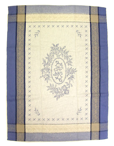 Set of 3 Jacquard dish cloths (Monogramme. blue)