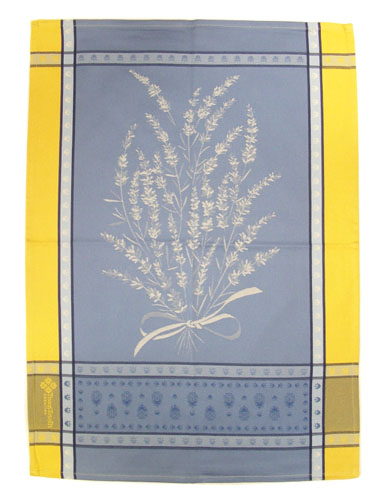 Set of 3 Jacquard dish cloths (Grignan. yellow-blue)