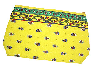 Provence Quilted Pouch PM (flowers pattern. yellow)