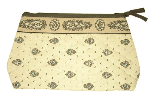 Provence Quilted Pouch PM (Marat d'Avignon / bastide. Turquoise)
