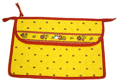 Provence pattern Cosmetics Bag (Calissons. yellow x red)