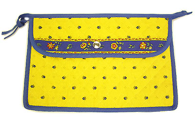Provence pattern Cosmetics Bag (Calissons. yellow x blue)