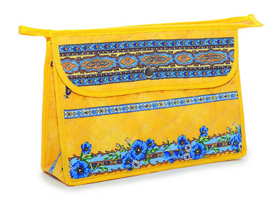 Provence pattern Cosmetics Bag (Marat d'Avignon / tradition. yel