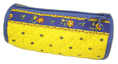 Provence Quilted Pouch ROUCY(Calissons. yellow x blue)
