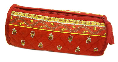 Provence Quilted Pouch ROUCY(Marat d'Avignon / Avignon. red)